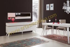Lotus Beyaz Konsol Masa